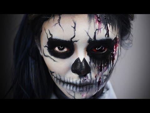 BLOODY Sugar Skull Makeup 💀