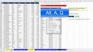 Highline Excel 2016 Class 19: Transform Data Sets using Advanced Filter (8 Examples)