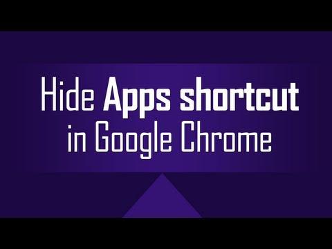 Hide Apps shortcut on Chrome Bookmarks bar