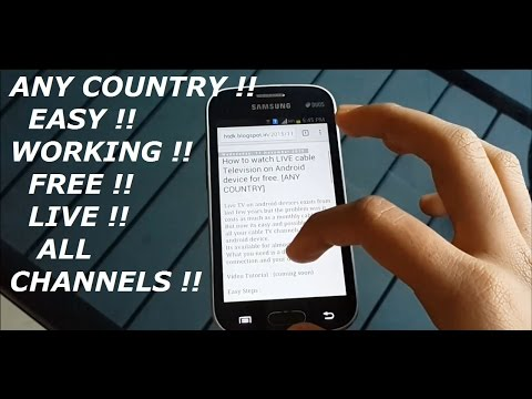How to watch CABLE TV  for FREE on any android device [WORKING]