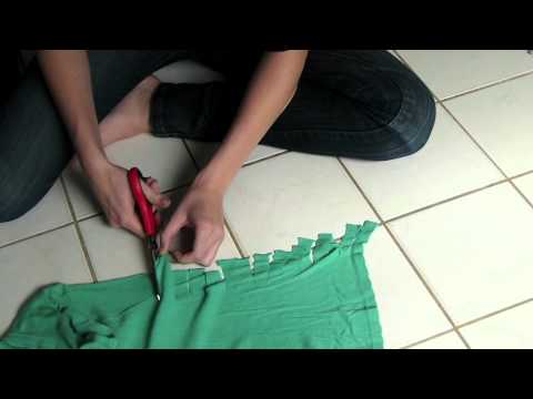 DIY Knotted t-shirt