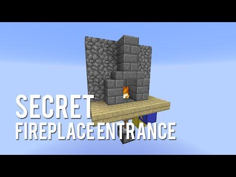 Redstone: Secret Fireplace Entrance [Tutorial]