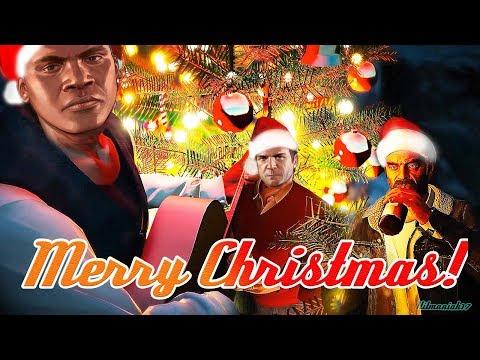 Merry Christmas from CJ, Franklin, Michael, Trevor and Santa Claus🎅⭐