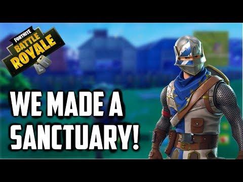 WE MADE A SANCTUARY! - Fortnite Battle Royale Gameplay - ThatRandomGamer