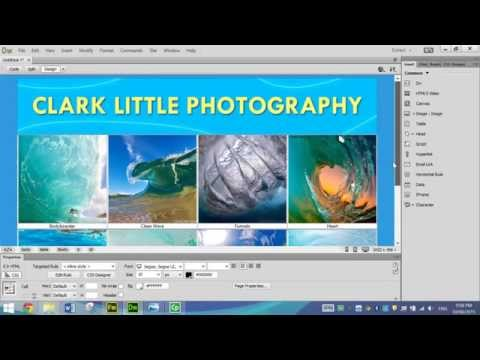 Making a Photo Gallery Web Page in Dreamweaver
