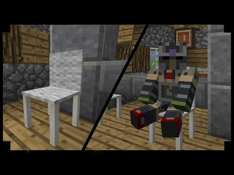 ✪Minecraft: How to make working chairs you can sit in! (One Command Creation)