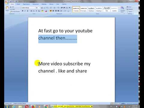 Upload any video without MB on Youtube Very easy and fast// How to and do//