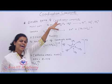 Coordination Compound Chemistry Part-2 std 12th HSC Board Video Lecture BY Rao IIT Academy
