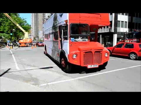 VARIOUS BUSES DRIVING IN MONTREAL QUEBEC