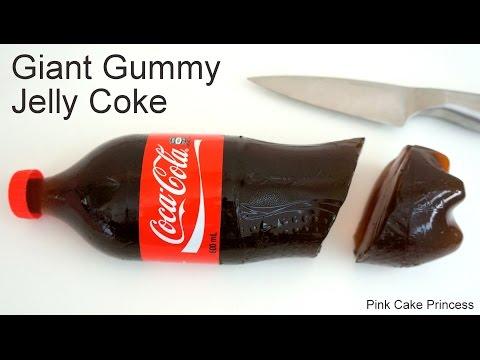 Coke Jelly Bottle - How to Make a Giant Gummy Coke Bottle for April Fool's Day