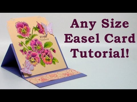 how to make any size easel card