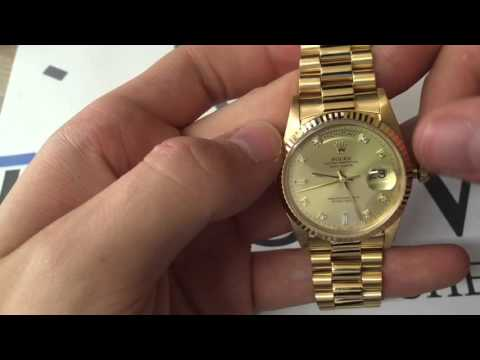 How To Set The Time & Date On A Rolex Day-Date! - UK Specialist Watches