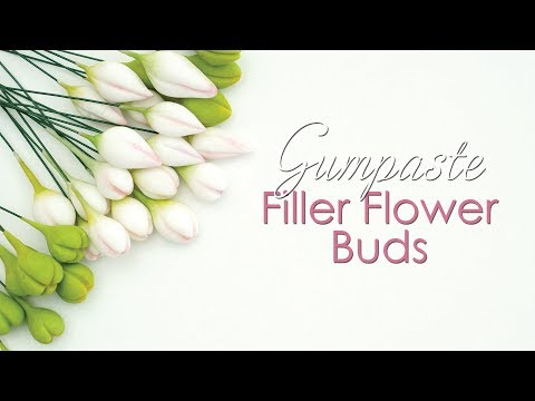 How to make Gumpaste Filler Flower Buds Tutorial