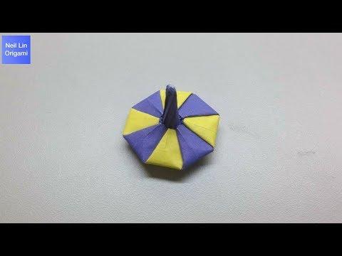 Origami spinning top tutorial 摺紙陀螺教學