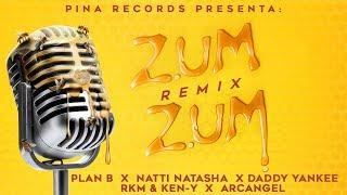 Zum Zum (Remix) 🐝🍯 - Plan B Natti Natasha Daddy Yankee Rkm & Ken-Y Arcangel [Lyric Video]