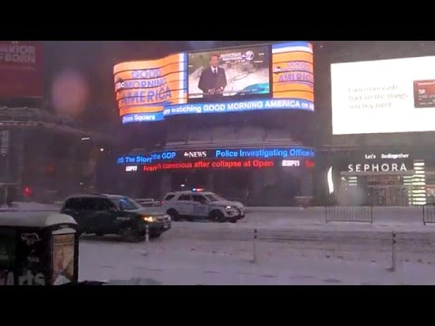 Blizzard ,Time Square, New York February 2016