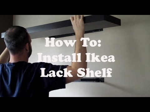 Install an Ikea Lack Shelf