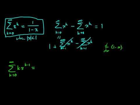 Expectation of a geometric random variable