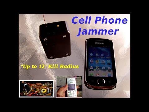 UHF Transmitter or Cellular Phone Jammer (12' range) up to 2GHZ