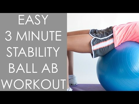 Easy 3 minute Stability ball Ab Workout for Women - Christina Carlyle