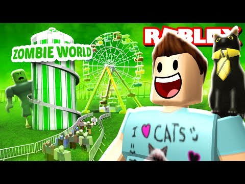 ZOMBIE WORLD THEME PARK! | Roblox Adventures