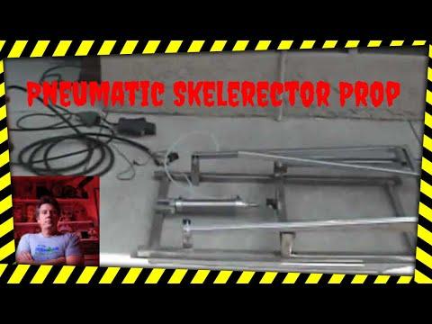 DIY Pneumatic Halloween Prop, the Skelerector