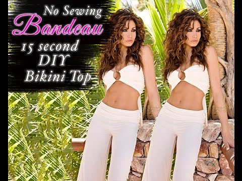 DIY BANDEAU TOP - Beginner Level - NO SEWING