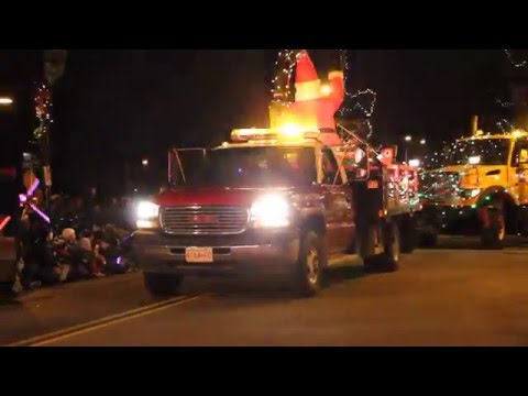 Cloverdale Christmas Parade Emergency Vehicles