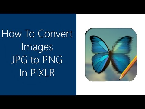 How to convert change images JPG  to PNG in Pixlr Editor