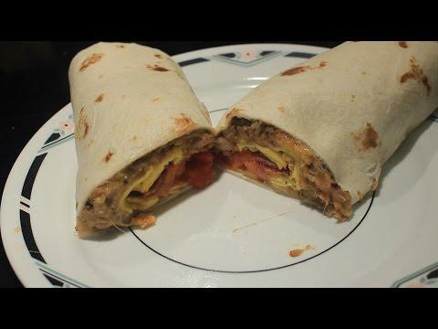 Bean & Bacon Breakfast Burrito w/  Cheese & Egg