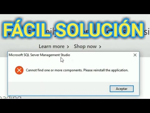 SQL SERVER - cannot find one or more components please reinstall the application.
