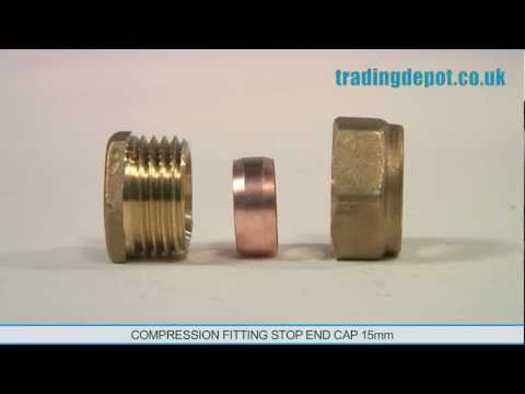 TRADING DEPOT: Compression Fitting Stop End Cap 15mm Part no: CFI323/15