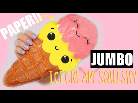 DIY JUMBO PAPER SQUISHY | How to make a squishy without foam #9