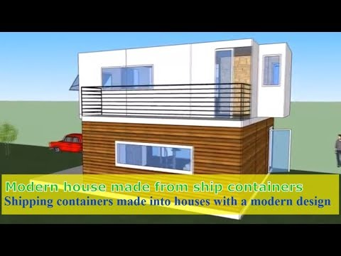 Containers made into houses with a modern - modern shipping container house in germany