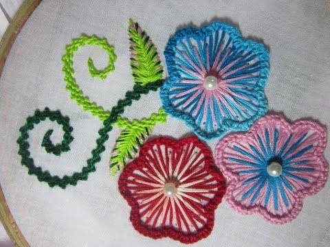 Hand Embroidery Designs Basic Embroidery Stitches Part 4