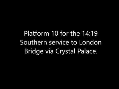 London Victoria Station Announcements
