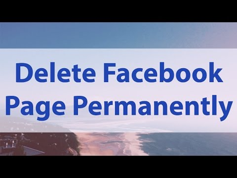 How To Delete Facebook Page Permanently 2017 From Mobile