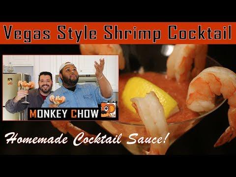 Vegas Style Shrimp Cocktail - Monkey Chow Las Vegas Edition!