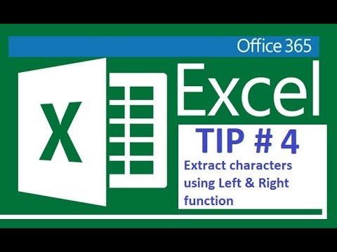 Excel 365 - Extract characters using left & right function