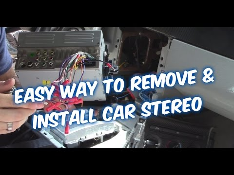 HOW TO INSTALL A CAR STEREO & CONNECT CAR RADIO WIRING TO AMP SUB