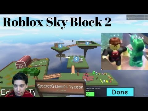 Roblox - Sky Block 2 : game with 1DoctorGenius  Ep - 1