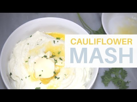 Cauliflower Mash (Faux Mash)   **CREAMY** KETO   Low Carb, High Fat (LCHF)