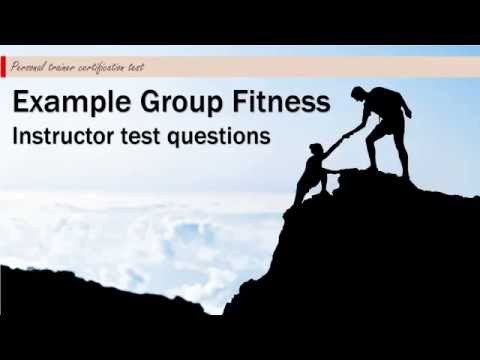 Example Group Fitness Instructor test questions #1