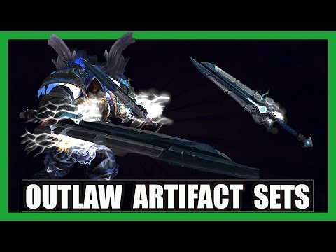10 Cool Outlaw Rogue Artifact Sets WoW Legion | Fate & Fortune Transmog