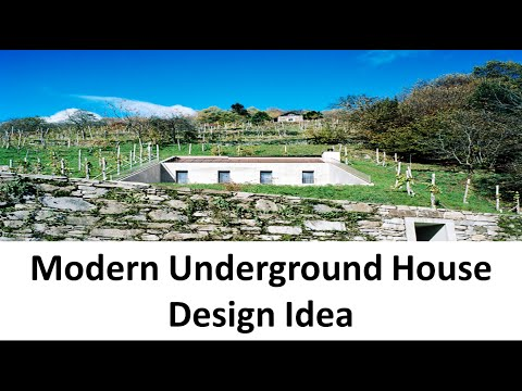 Modern Underground House Design Idea with Concrete Structure