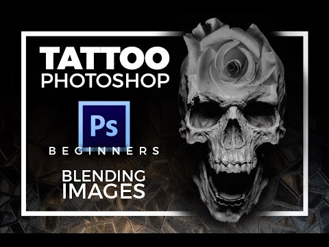 Tattoo Photoshop for beginners: Blending Images using Layers