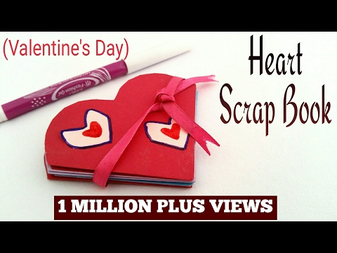 Heart 💗 Popup Scrap book for Valentine's day - Easy DIY Tutorial by Paper Folds ❤️