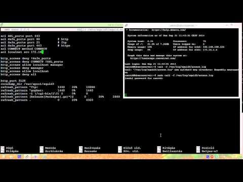Ubuntu 14.04 proxyszerver: Squid