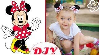 Ободок Минни Маус / Мастер класс / Minnie Mouse Headband