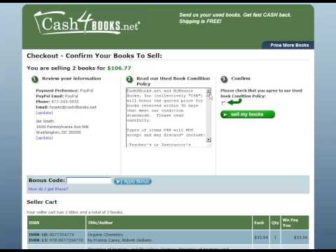 How To Sell Textbooks Online to Cash4Books.net - 2012